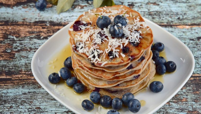 Egg-Free Coconut Yogurt Pancakes with Berry Compote